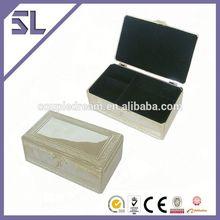 Reciclado MetalJewelry caixa de jóias caixas de Metal e vidro
