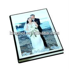 Black crystal acrylic cover flush mount album for wedding photo album