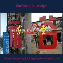 hot selling!!! Surfacelit led sign for shop