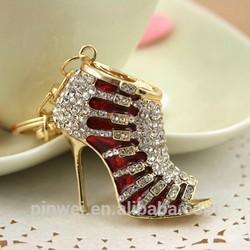 MOQ 12 pcs PayPal accepted 2014 Fashion handbag with rabbit fur charm rhinestone crystal metal alloy keychain SK2268
