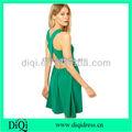OEM 여름 섹시한 드레스 민소매 패션 크로스 백 strape 멋진 드레스/ 여성 드레스/ 도매 여성 드레스 패션 2014