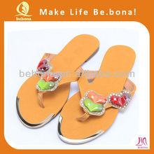 China wholesale flat rhinestone bling flip flop