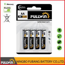 dry battery r6 aa heavy duty battery