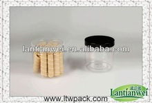 food grade plastic cylinder food containers