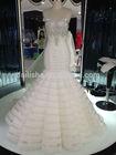 Hot Sale!! Real picture new style mermaid handmade rhinestone crystal wedding dress 2014 in Guangzhou China