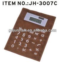 Leather wood solar power 8 digit calculator