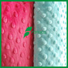 China factory wholesale SGS minky fabric dot for Baby Blanket and toys