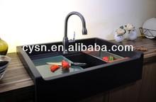 black kitchen sinks/granite sinks/apron front sink