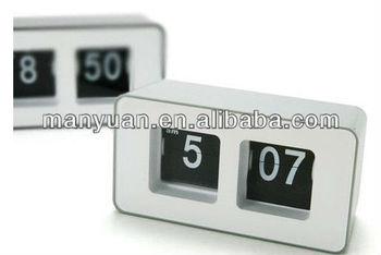 CT-259 Stylish creative arts seat watch/cube automatical flip clock