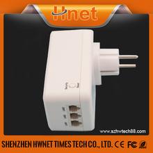 2014 Best 3 ports Powerline Communication 500 M Passthrough PLC adapter plc modem
