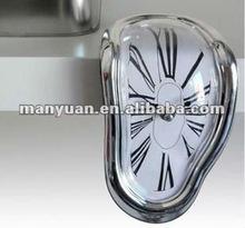 Creative seated distorted Designed Wall Clock (Creative item: the melting clock / table angle clock / Roba digital clock)
