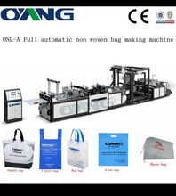 ONL-XB700-800 2015 new modle non woven box bag making machine with online handle attach