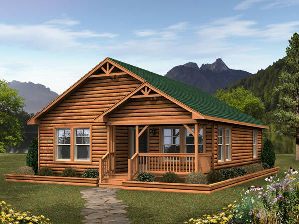 For Sale Prefabricated Log House Wooden Villa Cheap Prefab Homes Photo
