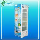 supermarket vertical single glass door soft drink refrigerated upright display freezer showcase