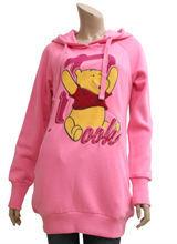 cute teddy bear printed lady hoodies,womens clothing wholesalers in China,fleece hoodie