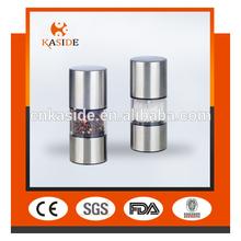 stainless steel manual salt & pepper mill/manual pepper grinder