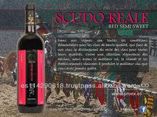 SCUDO REALE Red Semi Sweet Wine 11.0% bottle 12x750ml