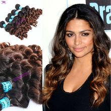 Wholesale hair extension wavy Virgin Brazilian Ombre Hair Weave