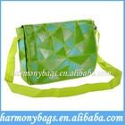 Green polyester fancy densign Shoulder Bag for women
