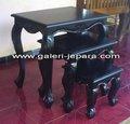 Sólidos Mahogany móveis de madeira - mogno Queen Anne ninho de 3 tabelas