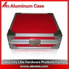 popular aluminum PVC jewelry case velvet lining