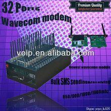 Wavecom gsm modem bulk SMS sending gateway on sell gsm quad band 850/900/1800/1900mhz gprs edge