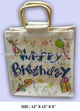 PP laminated printed jute gift bag