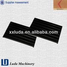 rail rubber compound pads