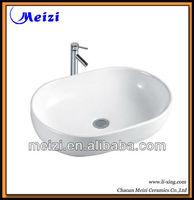 Bathroom table top shell shaped bathroom sink