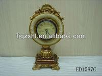 Resin Decorative Desk Clock