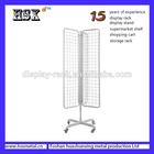 floor standing retail display / gridwall display stand /hook metal display stands HSX-S134