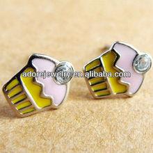 Alibaba italian ice cream cartoon stud earrings