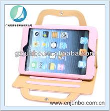 New arrival smart handbag PU leather stand case for iPad Mini