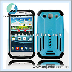 2 in 1 Hybrid hard PC soft silicon case for galaxy s3