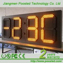 clock led sign \ large screen digital clock \ outdoor led clock