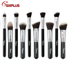 Sixplus Brand 10 pcs Sythentic hair mixed goat hair professional makeup brush set
