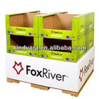 Corrugated paper pallet display & shipper box