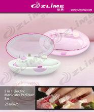LED electric manicure and pedicure set