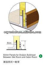 Marine/boat Moisture Proof/fire resistant Panel between Wet Room and Cabin Room