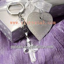 high quality religious crystal cross keychain