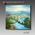 Alta qualidade handmade clássica montanhas e paisagem da árvore decoração da parede pintura a óleo