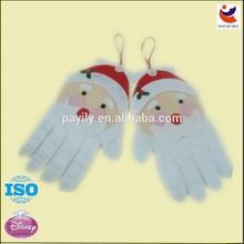 High quality felt material christmas tree ornament,christma santa gloves