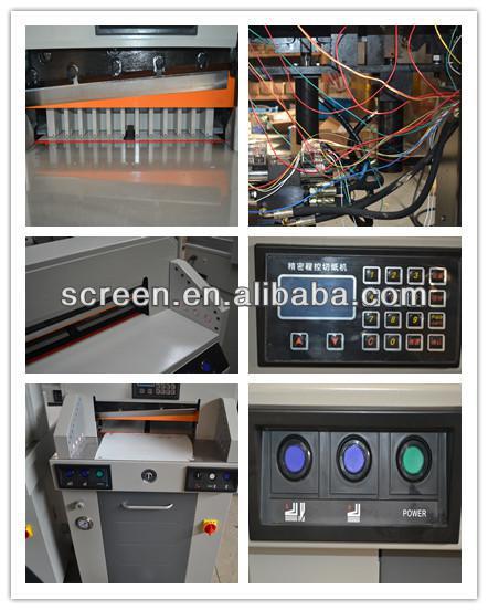 Hydraulic program-controlled electric paper cutter machine