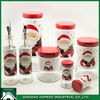 TEA SUGAR COFFEE STAINLESS STEEL COATED GLASS CANISTER SET/CHRISTMAS AIRTIGHT GLASS JAR WHOLESALE