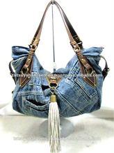 Denim Ladies Bags Tote Type made from denim fabrics