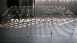 steel folding dog cage metal enclosure Folding Pet Playpen Dog Playpen with Eight Panels