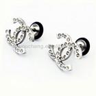 CC Screw Back Stud Earrings for Women