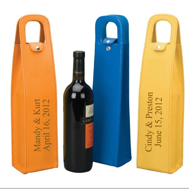 Fashion design wine carrier, leather wine carrier, wine bottle carrier