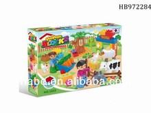 46Pcs Happy Farm Block, Adventure Toys For Children