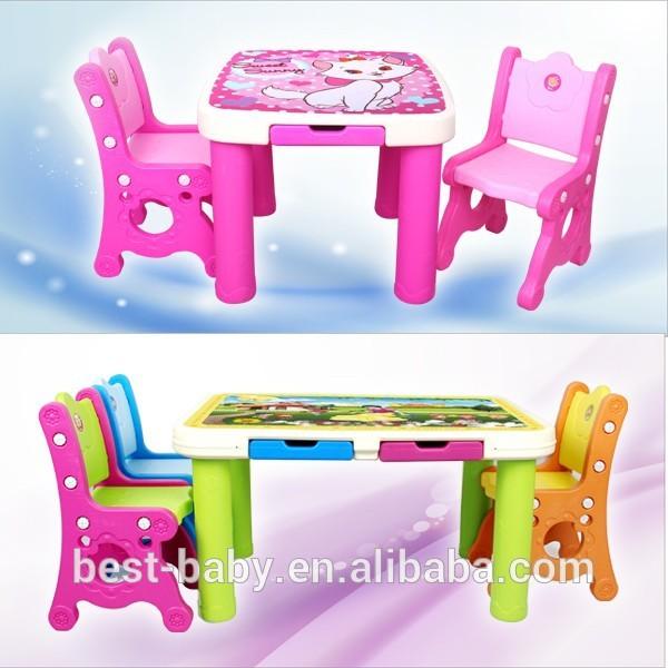 De los ni os de estudio bonito pl stico mesas de estudio y - Mesas de estudio para ninos ...